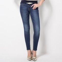 O.SA - Washed Skinny Jeans