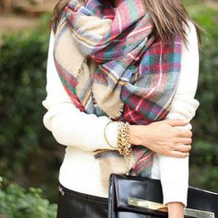 Cuteberry - Plaid Scarf