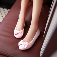 Pastel Pairs - 蝴蝶結平跟鞋