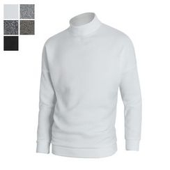 DANGOON - Mock-Neck Brushed-Fleece Lined Knit Pullover