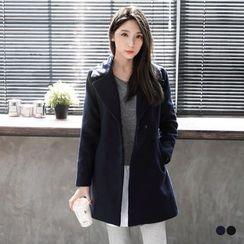 OrangeBear - Single-Buttoned Woolen Suit Coat