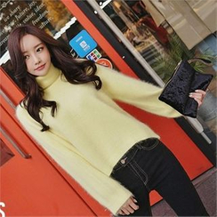 Babi n Pumkin - Turtle-Neck Wool Knit Top