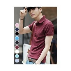 PLAYS - Slim-Fit Short-Sleeve Polo Shirt (9 Colors)
