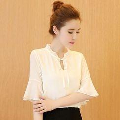 Katie Bloom - 钟袖雪纺衬衫