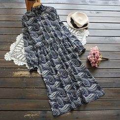 YOYO - Long-Sleeve Printed Dress