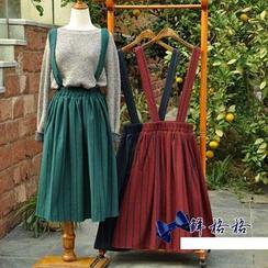 Mellow Fellow - Striped Woolen Jumper Skirt