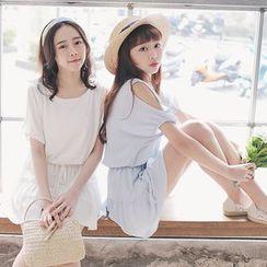 Tokyo Fashion - Short-Sleeve Tie Waist Dress
