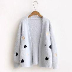 Aigan - Applique Knit Cardigan
