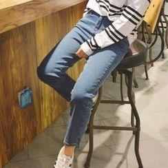 Oyal - Slim-Fit Cropped Jeans