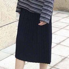 Rollis - Midi Pleated Skirt