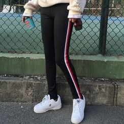 Dream Girl - Stripe Trim Leggings