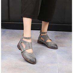 Lemon Tree - 繫帶尖頭平跟鞋