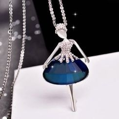 Best Jewellery - Rhinestone Dancer Pendant Necklace