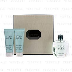 Giorgio Armani - Acqua Di Gioia Coffret: Eau De Parfum Spray 50ml/1.7oz + 2x Body Lotion 75ml/2.5oz (Beige Box)