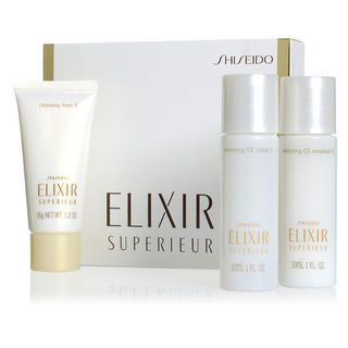 Shiseido - Elixir Superieur Whitening Set: Cleansing Foam 35g + Emulsion 30ml + Lotion 30ml
