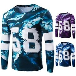 Blueforce - Number Print Long-Sleeve T-Shirt