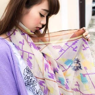 Tokyo Fashion - Patterned Scarf