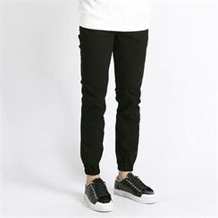 THE COVER - Band-Waist Cotton Blend Pants