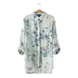 LULUS - Floral Print Blouse