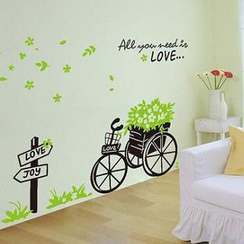 乐宅 - Flower Trolley Wall Sticker