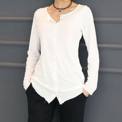 DANI LOVE - Round-Neck Jersey Shirt
