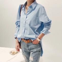 NANING9 - Dip-Back Loose-Fit Shirt