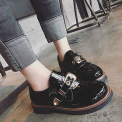 Hipsole - Belted Patent Loafers