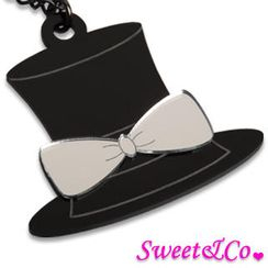 Sweet & Co. - XL Mirror Hat Pendant Long Necklace