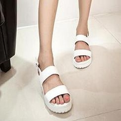 SouthBay Shoes - Slingback Buckled Sandals