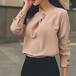 Aurora - Set: Buttoned Chiffon Top + Pants