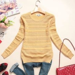 Heybabe - Pointelle Knit Sweater