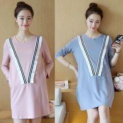 Ohayo - Maternity Long-Sleeve T-Shirt Dress