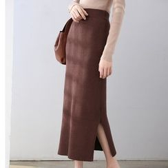 HORG - Knit Slit Midi Skirt