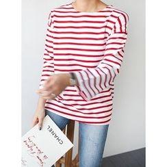 STYLEBYYAM - Stripe Round-Neck T-Shirt