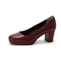 MODELSIS - Platform-Heel Genuine Leather Pumps