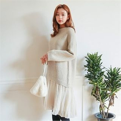 Styleberry - Mock Two-Piece Knit Dress