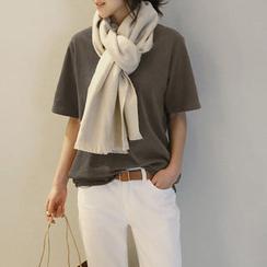 NANING9 - Brushed-Fleece Short-Sleeve T-Shirt