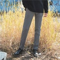 Superstar.i - Pocket-Side Plaid Dress Pants
