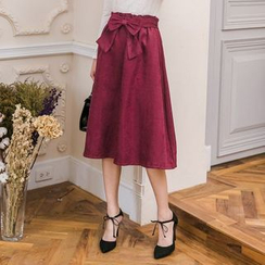 Tokyo Fashion - Bow-Accent Maxi Skirt