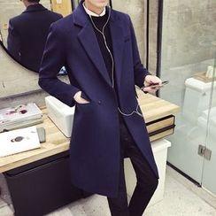 Prep Soul - 純色羊毛大衣