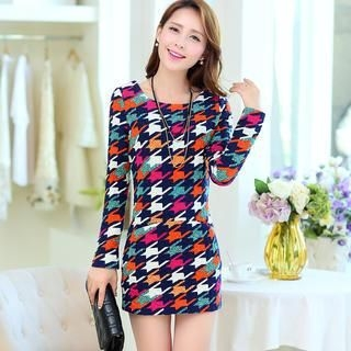 Flower Creek - Houndstooth Dress