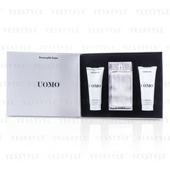 Ermenegildo Zegna - Uomo Coffret: Eau De Toilette Spray 100ml/3.4oz + After Shave Balm 100ml/3.4oz + Hair and Body Wash 100ml/3.4oz