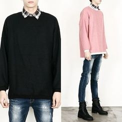 Remember Click - Wool-Blend Knit Sweater