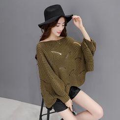 Romantica - Set: Open-Knit Sweater + Shorts