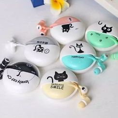 DiGiBB - Cat Print Earphone with Case