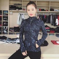 Sylphlike Loli - 印花運動拉鏈外套