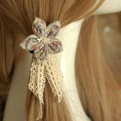 AOI - Lace Flower Hair Tie / Hair Clip / Brooch