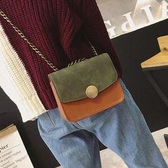 Rosanna Bags - Color Panel Chain Strap Crossbody Bag