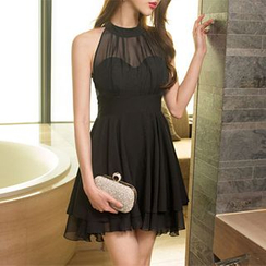 Sherbo - Sleeveless Chiffon Party Dress
