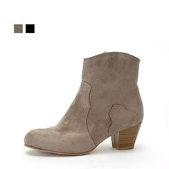 MODELSIS - Zip-Detail Faux-Leather Ankle Boots